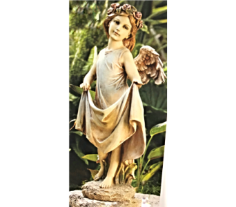 Angel with Skirt Bird Feeder in Dayton OH, Furst The Florist & Greenhouses