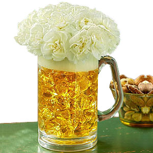 BEER MUG OF BLOOMS in Bloomington IL, Beck's Family Florist