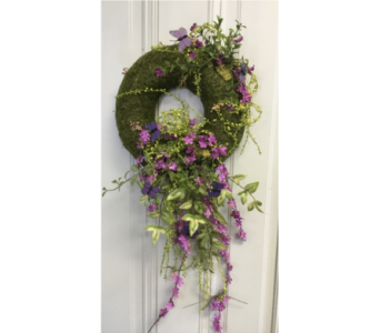Purple Wreath in Crafton PA, Sisters Floral Designs