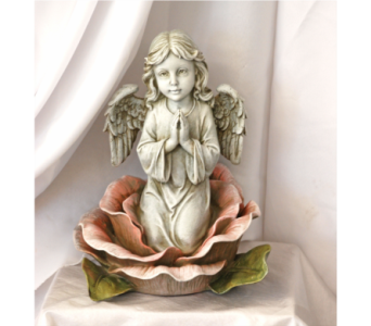 Angel in the rose in Hales Corners WI, Barb's Green House Florist