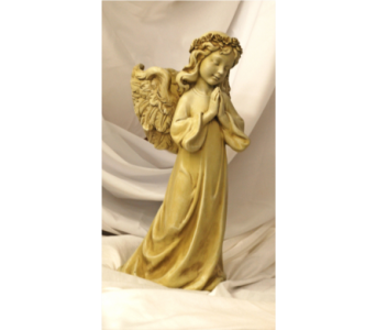 Praying angel planter in Hales Corners WI, Barb's Green House Florist