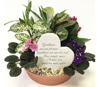 Goodbyes Are Not Forever Dish Garden Stone Planter in Wyoming MI, Wyoming Stuyvesant Floral