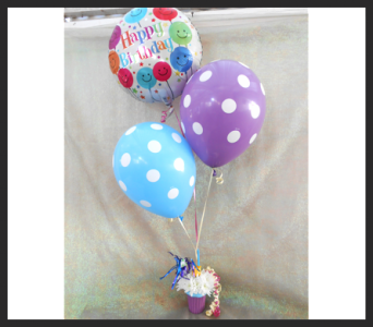 Cupcake and Balloons in Tyler TX, The Flower Box