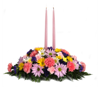 Double Candle Centerpiece in Southfield MI, Thrifty Florist