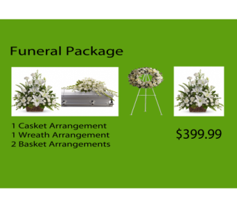 FUNERAL TRIBUTE PACKAGE in Orange CA, Main Street Florist