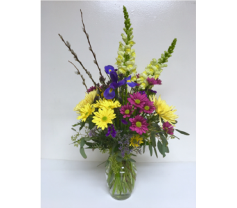 Sunny Day Bouquet - 8 inch Vase - All-Around in Wyoming MI, Wyoming Stuyvesant Floral
