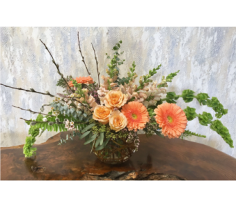 Peaches and Apricots - 8 inch Bubble Bowl in Wyoming MI, Wyoming Stuyvesant Floral