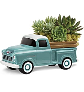 Perfect Chevy Pickup in Santa Monica CA, Edelweiss Flower Boutique
