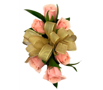 Pink Spray Roses And Gold Ribbon In Stuart Fl Harbour Bay Florist