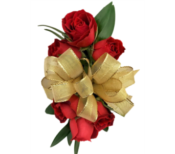 Red Spray Roses And Gold Ribbon In Stuart Fl Harbour Bay Florist