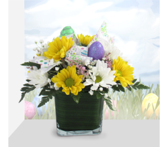 Easter Cutie Cube in Southfield MI, Thrifty Florist