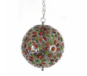 Amber & Lime Jeweled Globe Light in Oviedo FL, Oviedo Florist