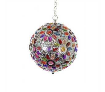 Rainbow Multicolor Jeweled Globe Light in Oviedo FL, Oviedo Florist
