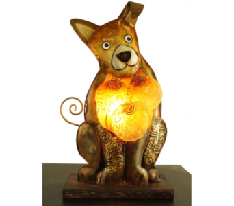 Dog Table Lamp in Oviedo FL, Oviedo Florist