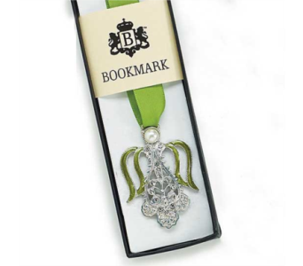 Silver Angel and Ribbon Bookmark in Oviedo FL, Oviedo Florist
