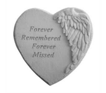 Angel's Wing Heart Plaque in Oviedo FL, Oviedo Florist