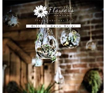 Ivy in Glass Bulbs in Kalispell MT, Flowers By Hansen, Inc.