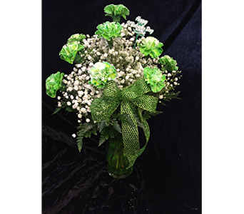 Luck of the Irish Carnations in Wynantskill NY, Worthington Flowers & Greenhouse