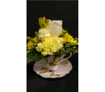 M & W Flower Shop's Teacup Bouquet in Chatham VA, M & W Flower Shop