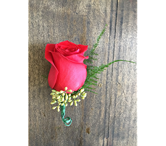Red Rose Boutonniere in Raleigh NC, North Raleigh Florist