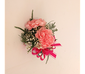 Pink Carnation Corsage in Raleigh NC, North Raleigh Florist