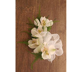 Alstroemeria Corsage in Raleigh NC, North Raleigh Florist