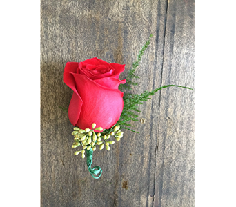 Red Rose Boutonniere in Cary NC, Cary Florist