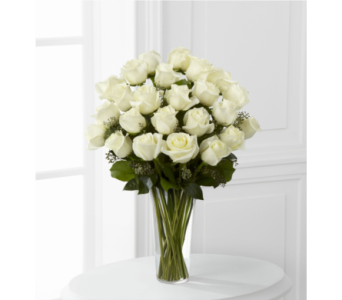 The FTD White Rose Bouquet in Southfield MI, Thrifty Florist