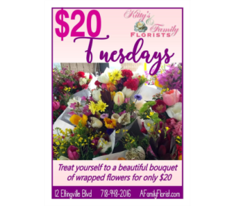 $20 Tuesday Bouquets in Staten Island NY, Kitty's and Family Florist Inc.