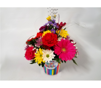 Birthday Riot Bouquet in Mount Horeb WI, Olson's Flowers