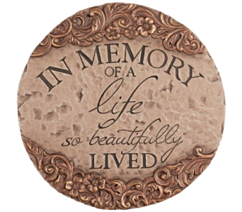 In Memory Of A Life, Garden Stone in Alliston, New Tecumseth ON, Bern's Flowers & Gifts