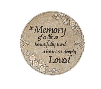In Memory Of A Life Lived, Garden Stone in Alliston, New Tecumseth ON, Bern's Flowers & Gifts