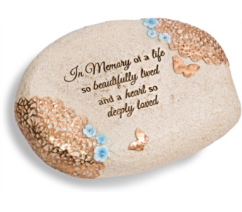 In Memory Of A Life Lived, Tabletop Stone in Alliston, New Tecumseth ON, Bern's Flowers & Gifts
