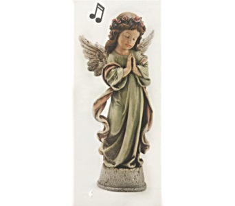 Little Girl Angel with Music Box in Dayton OH, Furst The Florist & Greenhouses