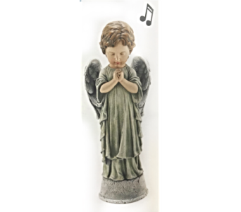 Praying Angel with Music Box in Dayton OH, Furst The Florist & Greenhouses