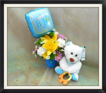 Baby Boy Bear Bouquet in Tyler TX, The Flower Box