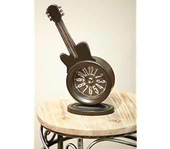 Guitar Mantel Clock in Kalispell MT, Flowers By Hansen, Inc.