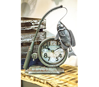 Fisherman Table Clock in Kalispell MT, Flowers By Hansen, Inc.