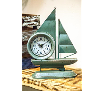 Sailboat Shaped Table Clock in Kalispell MT, Flowers By Hansen, Inc.