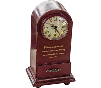 To Everything A Purpose Table Clock in Kalispell MT, Flowers By Hansen, Inc.