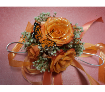 Orange Blossom Wristlet in Hagerstown MD, Chas. A. Gibney Florist & Greenhouse