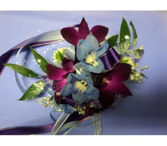Purple passion wristlett in Hagerstown MD, Chas. A. Gibney Florist & Greenhouse