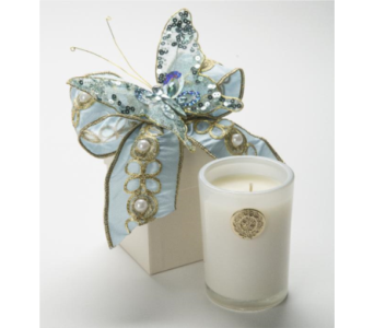 Lux Blue Hydrangea Gift Box Candle in Little Rock AR, Tipton & Hurst, Inc.