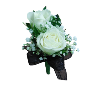 The Deluxe Spray Rose Boutonniere in Mesa AZ, Watson Flower Shops