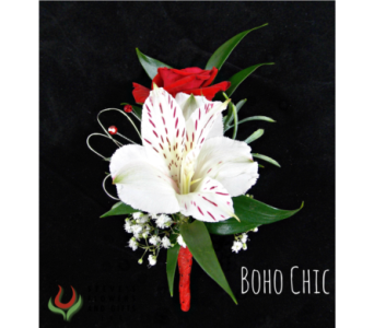 Boho Boutonniere in Indianapolis IN, Steve's Flowers and Gifts
