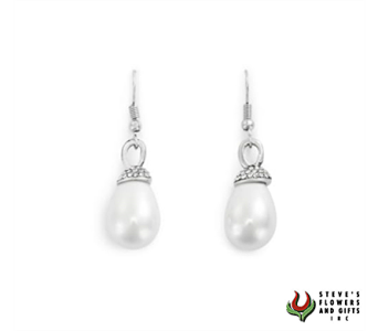 Pearl French Wire Earrings in Indianapolis IN, Steve's Flowers and Gifts