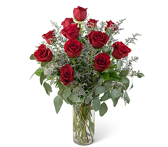 Elegance and Grace Dozen Roses in Escondido CA, Rosemary-Duff Florist