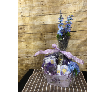 Get well delivery greenville sc expressions unlimited luxurious lavender gift basket in greenville sc expressions unlimited negle Choice Image