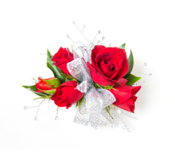 Rose Wristlet Corsage w/ Rhinestones in Little Rock AR, Tipton & Hurst, Inc.