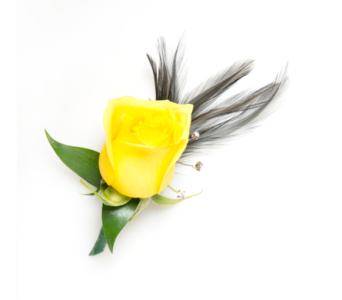 Rose Boutonniere w/ Feathers in Little Rock AR, Tipton & Hurst, Inc.